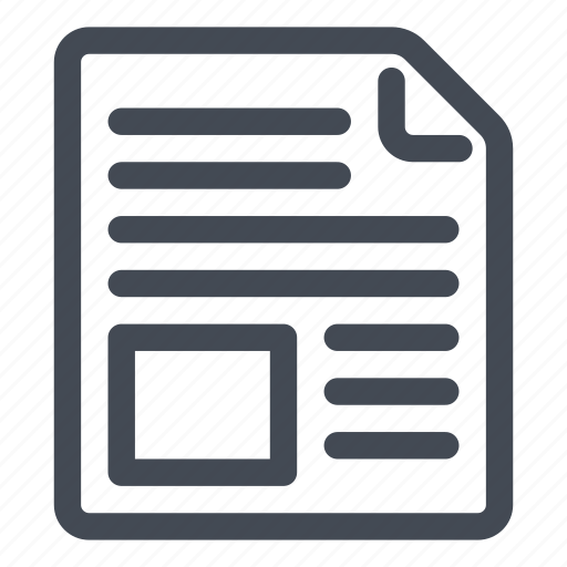 document, illustration, image, picture, text icon