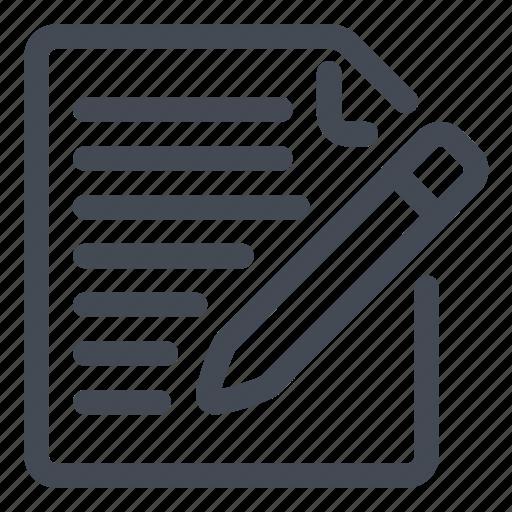 document, modify, pencil, write icon