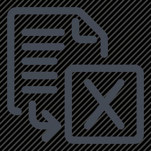 export, spreadsheet icon
