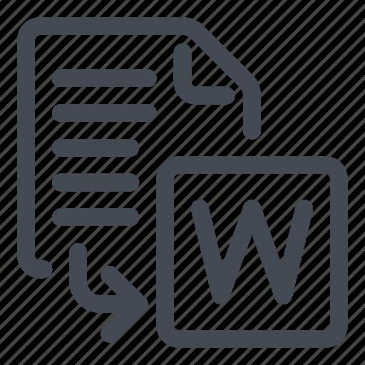export, word icon