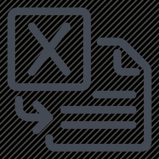 import, insert, spreadsheet icon