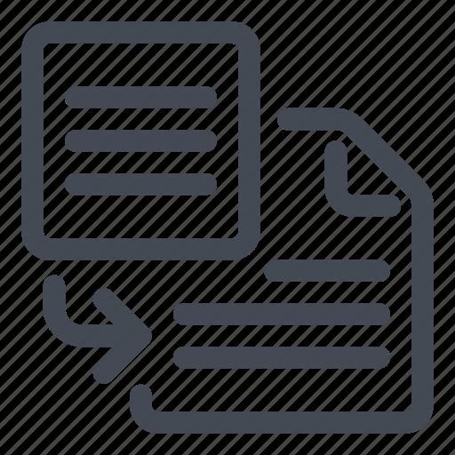 import, insert, text icon