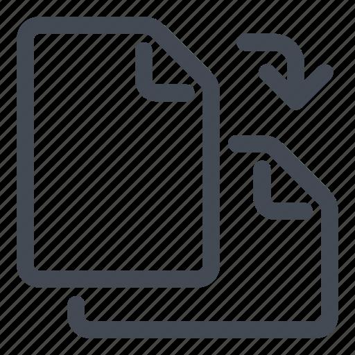 document, landscape, orientation, page, portrait, rotate icon