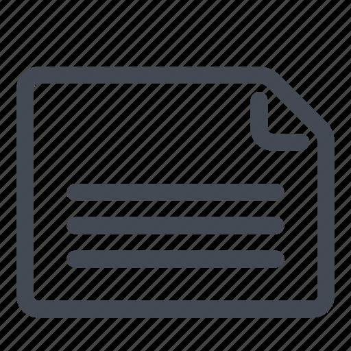 document, landscape, orientation, page icon