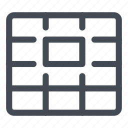 cell, grid, processing, select, selection, table, word icon