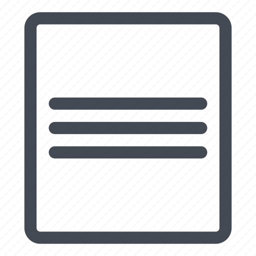 align, center, document, processing, text, vertical, word icon