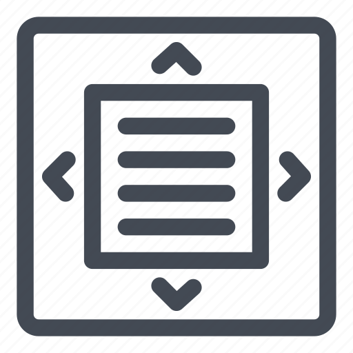 full, max, maximize, processing, screen, view, word icon