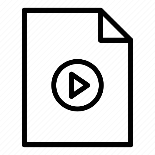 avi, clip, document, file, file type, mov, movie, mp4, video icon