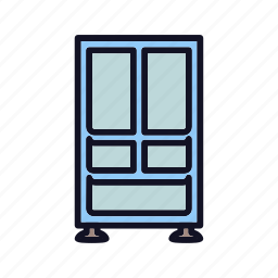 appliance, full, full-size-refrigerator, kitchen, maximize, refrigerator, size icon