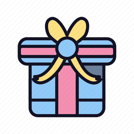birthday, celebration, decoration, gift, package, ribbon, shopping icon