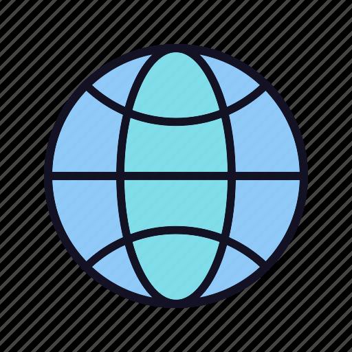cloud, globe, international, mobile, network, web, worldwide icon