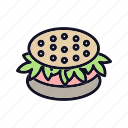 dinner, fastfood, food, hamburger, meal, menu, sandwich icon