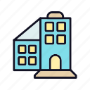 building, estate, hotel, restaurant, room, travel, work icon