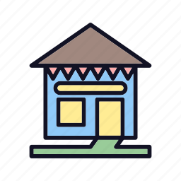 apartment, construction, furniture, home-hut, house, property, villa icon