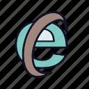 business, e-explorer, explorer, internet, internet-explorer, online, search icon