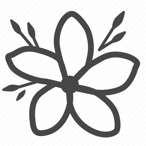 bloom, floral, flower, fragrant, frangipani, plant, plumeria icon