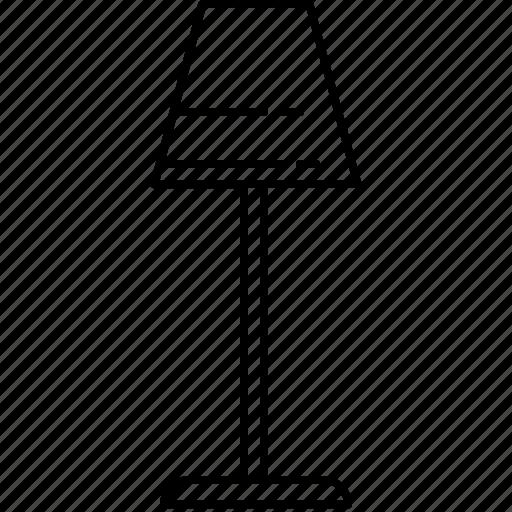 furniture, lamp, light, lighting, standing icon