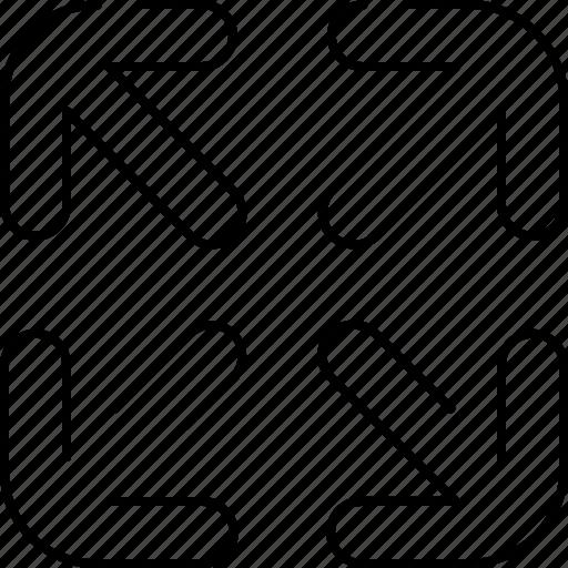 arrow, design, graphic, in, tools, zoom icon
