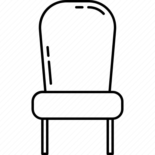 chair, fabric, furniture, home, paded icon