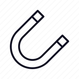 field, horseshoe, horseshoe-magnet, luck, magnet, metal, snap icon