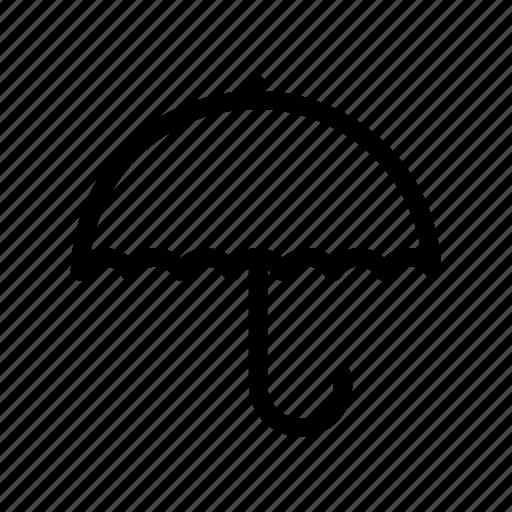 insurance, opened umbrella, rain, rain umbrella, umbrella, weather icon