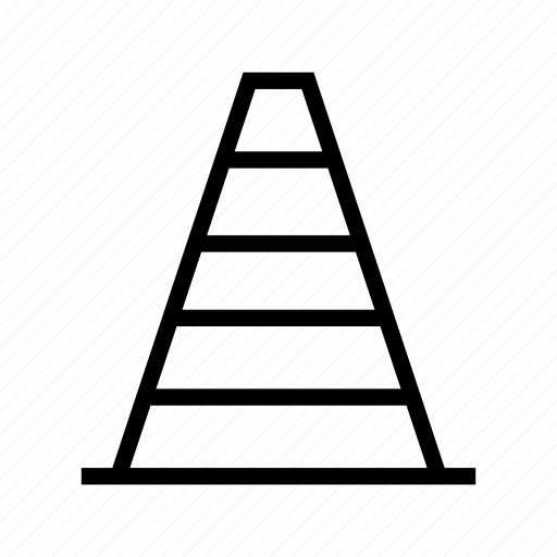 cone, construction, road cone, street, traffic cone icon