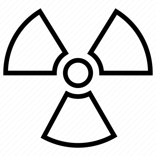 atomic, danger, radiation, radiation sign, radioactive, toxic icon