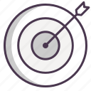 aim, arrow, bullseye, center, shoot, target icon