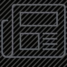 document, finance, journal, magazine, news, newspaper, tabloid icon