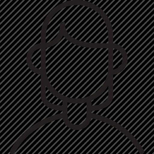 avatar, icon, line, mom, person, user, woman icon