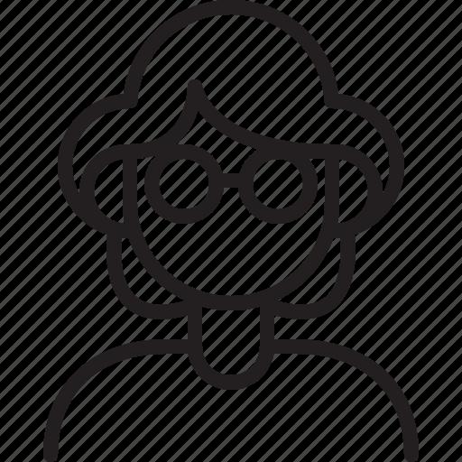 avatar, grandma, icon, line, person, user, woman icon