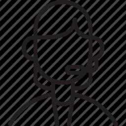 account, avatar, icon, line, person, user icon