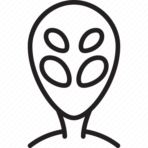alien, avatar, icon, line, person, user icon