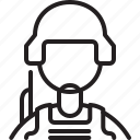 avatar, icon, line, male, person, profile, soldier icon