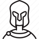 avatar, icon, male, outline, person, profile, spartan icon