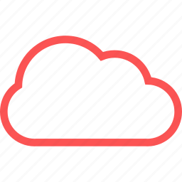 cloud, communication, internet, line, weather icon