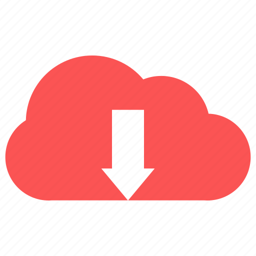 cloud, cloud download, down, download icon
