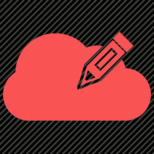 cloud, edit, edit cloud icon