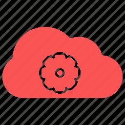 cloud, setting, setting cloud icon