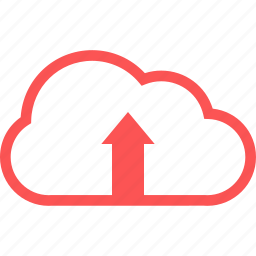 cloud, line, upload, upload cloud icon