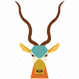 animal, animal face, cartoon, deer, deer face, jung, linear animal icon