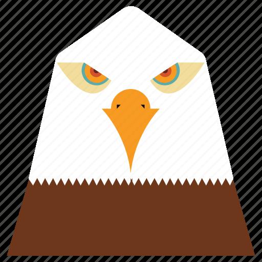 animal, animal face, bird, buzzard, cartoon, eagle, linear animal icon