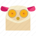 animal, animal face, cartoon, lemur, lemur face, linear animal icon