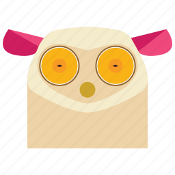 animal, animal face, cartoon, lemur, lemur face, linear animal icon