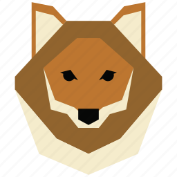 animal, cartoon, jung, linear animal, wolf, wolf face icon