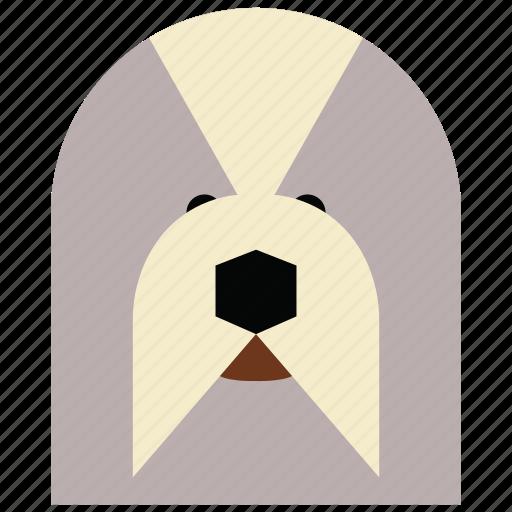 animal, animal face, cartoon, dog, dog face, linear animal, seal icon