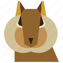 animal, animal face, cartoon, linear, linear animal, squirrel, squirrel face icon