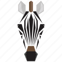 animal, animal face, cartoon, horse, linear animal, zebra, zebra face icon