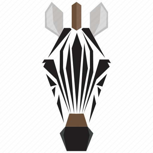 animal, animal face, cartoon, horse, linear animal, zebra, zebra face icon