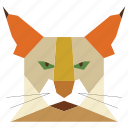 animal, animal face, cartoon, cat, cat face, linear animal icon